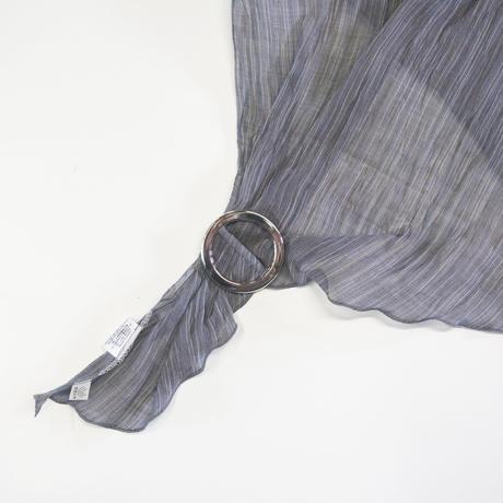 スカーフ / 雨絣 濃灰