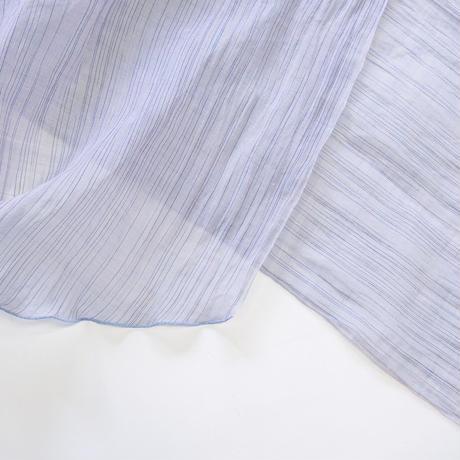 スカーフ / 雨絣 薄青紫