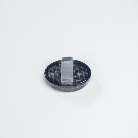 帯留 浮布〔clear cloth 〕/  楕円  縞 黒