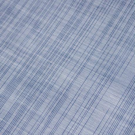 【在庫有り展示品】能登上布  着物反物 / 雨絣 渋青