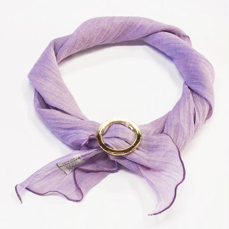 スカーフ / 万筋 縞 若紫