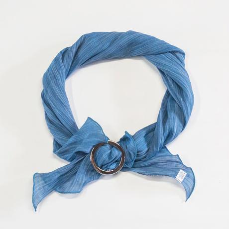 スカーフ / 雨絣 濃青