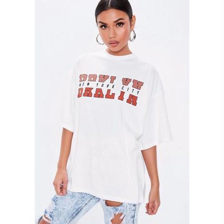 Tシャツ 半袖 カットソー オーバーサイズ ゆったり