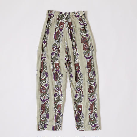 FLORAL STRIPE CARGO PANTS 【MENS】