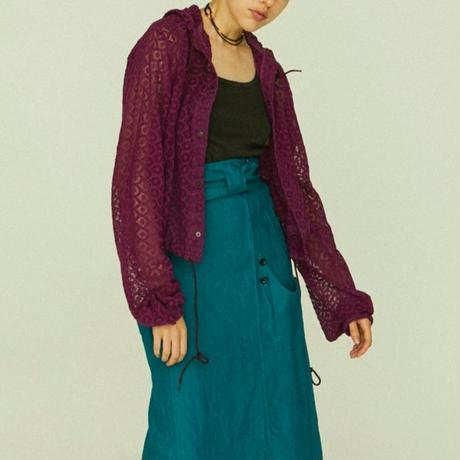 EMBROIDERY LACE PARKER【WOMENS】