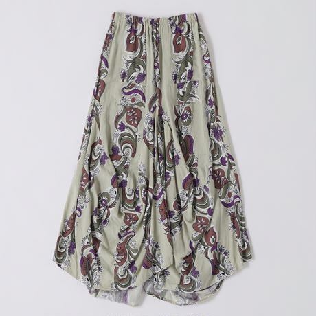 FLORAL STRIPE SKIRT【WOMENS】