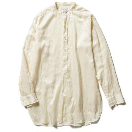 SILK COTTON BAND COLLAR SHIRTS【WOMENS】