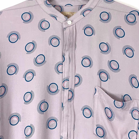 CIRCLE DOT BANDCOLLAR SHIRT【MENS】