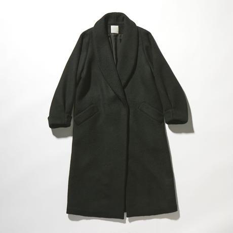【予約販売】BEAVER MELTON SHAWL COLLAR COAT (BLACK)