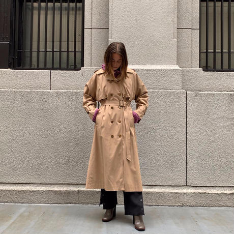 BACK PLEAT TRENCH COAT 【WOMENS】