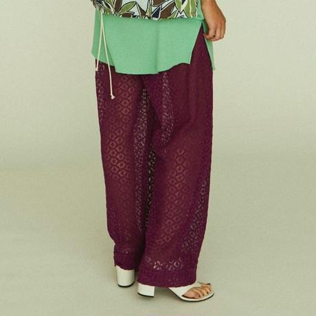 EMBROIDERY LACE PANTS【WOMENS】