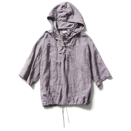 FRENCH LINEN LACE UP PULLOVER