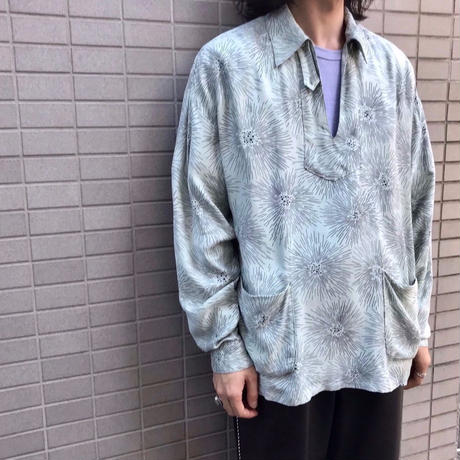 GEOMETRIC SKIPPER SHIRT【MENS】