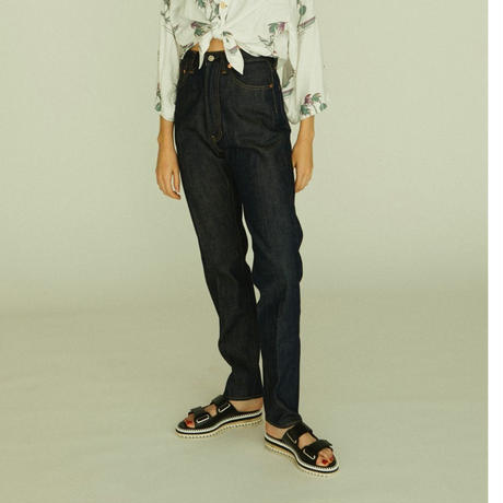 809 5POCKETS DENIM SLACKS【WOMENS】