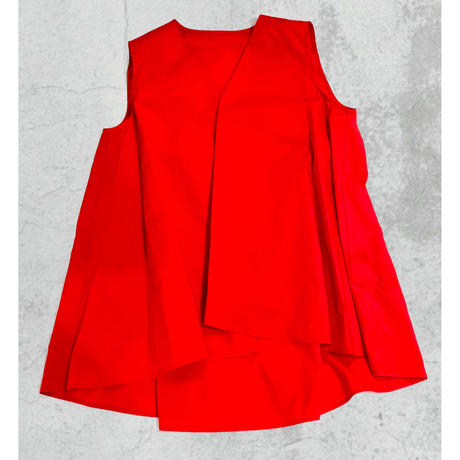 flare pullover 〈White/RED〉