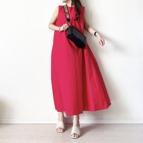 flare one-piece 〈 RED ,BLUE〉