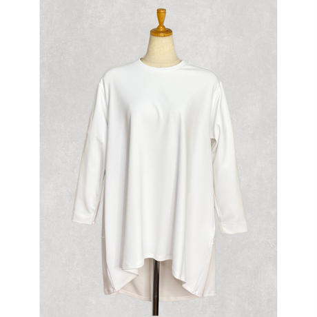 back long flare T-shirt