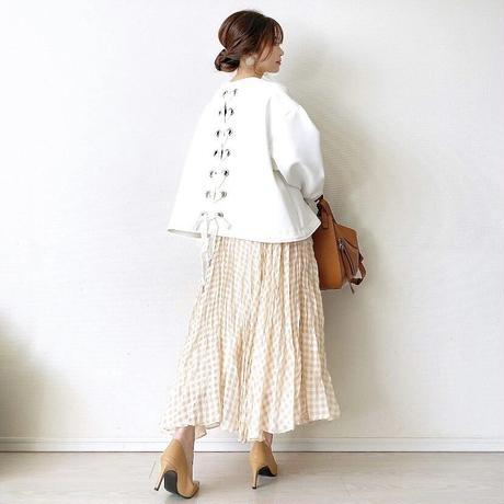 check skirt (yellow)