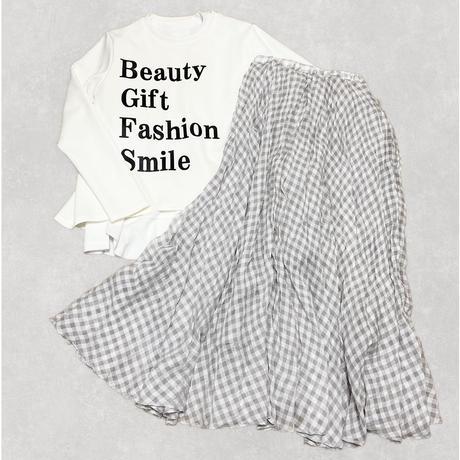 check skirt (gray)