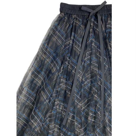 check Tulle skirt