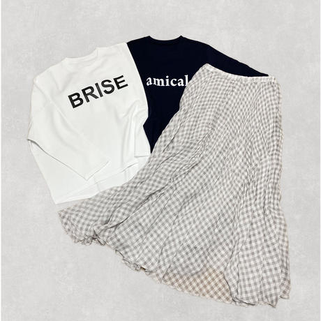 check skirt (gray)
