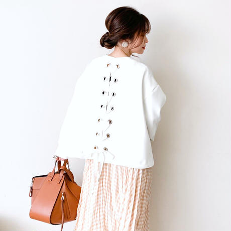 lace up blouson(off-white)