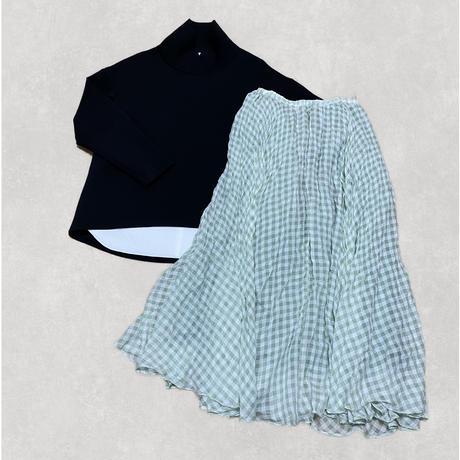 check skirt (green)