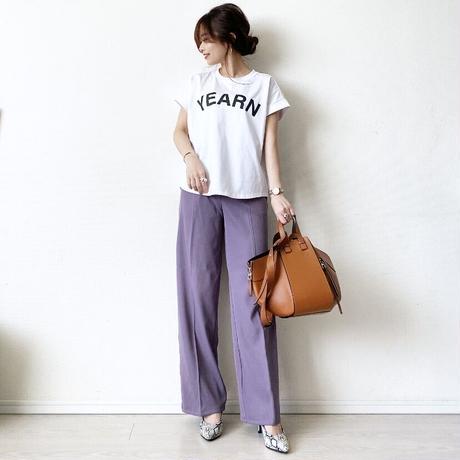 フレンチスリーブロゴTシャツ (YEARN)