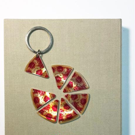 NWD-000B 'PIZZA SLICES' SHELL KEYCHAIN