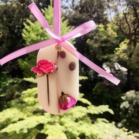 母の日ギフト♡香りの贈り物 《カーネーションのアロマワックスサシェと精油100%ですっきりクールダウン出来る香りのマスクスプレー》