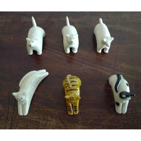 山極千真沙:動物オブジェ「猫・犬」