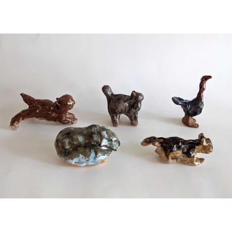 きくちちき:動物オブジェD(陶器)
