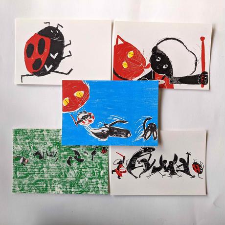 きくちちきポストカード「ちきばんにゃー」5枚組