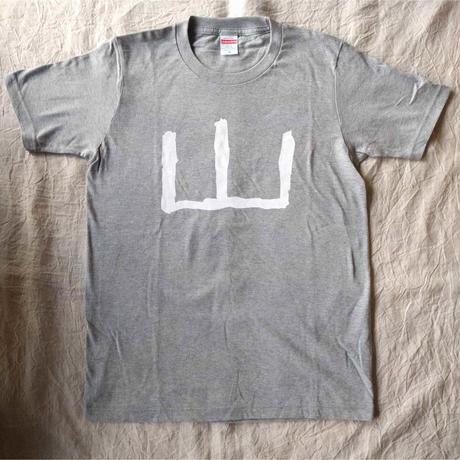 山Tシャツ 灰x白(荒井良二)