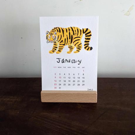 ミロコマチコ:卓上カレンダー2022(台付)