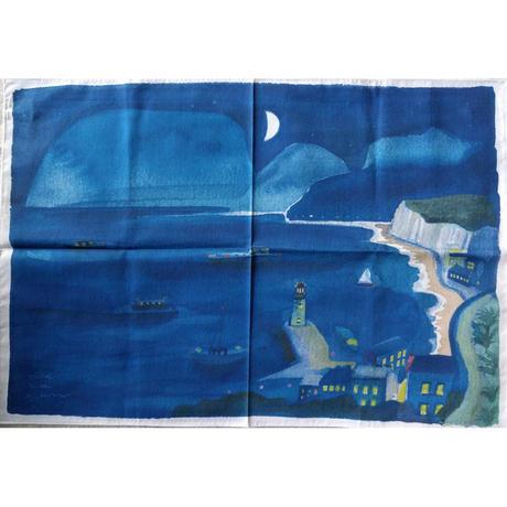 nakabanハンカチ「青に浮かぶ」