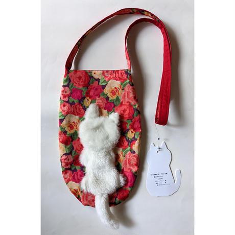 谷みゆき:ワンニャンバッグ19「白い子猫斜めがけバッグ」