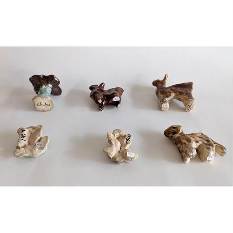 きくちちき:動物オブジェI(陶器)