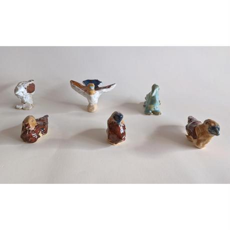 きくちちき:動物オブジェK(陶器)bird