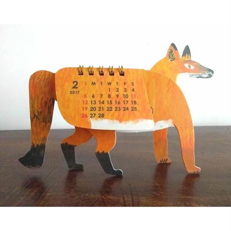 ミロコマチコ:カレンダー「キツネ」