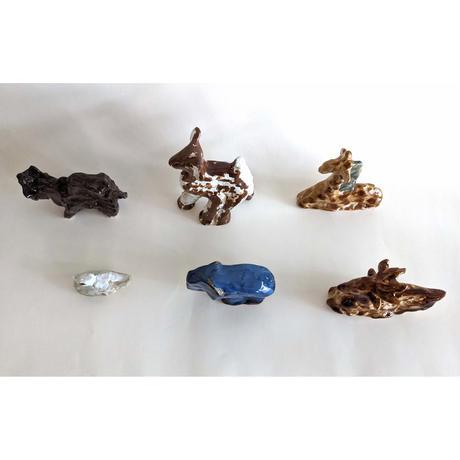 きくちちき:動物オブジェB(陶器)
