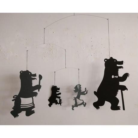 さとうゆうすけ:モビール作品「3匹のクマ」