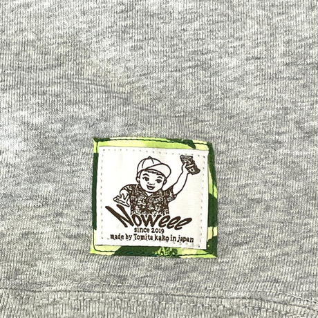Noweeeオリジナルトレーナー刺繍ロゴ【グレー】