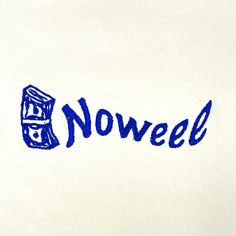 Noweeeオリジナルトレーナー刺繍ロゴ【アイボリー】
