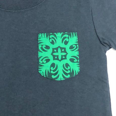 NoweeeオリジナルTシャツ~バックプリントver~【ブルーグリーン】子ども用