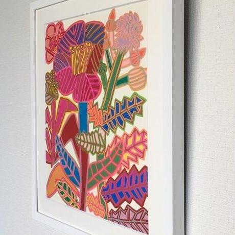 「綿ときれいな花」障害者アート・レプリカ