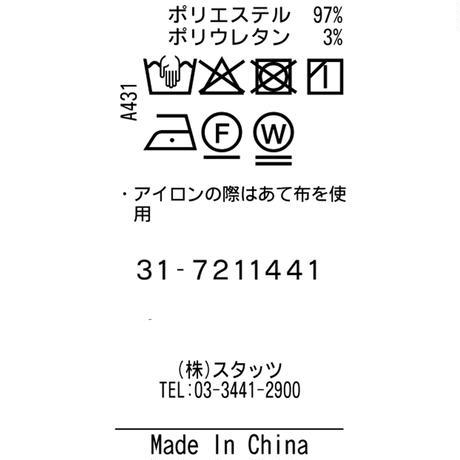 TRATTO [ 31-7211441 ] Dot Airプラントプリント【1タックショートパンツ】 - ネイビー(98)