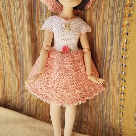 【花布糸様製作】総レース編みアウトフィット4点セット※MDDサイズ