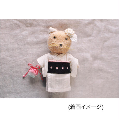 【for Doll】浴衣キット 〜レノクロス・ピンク帯〜