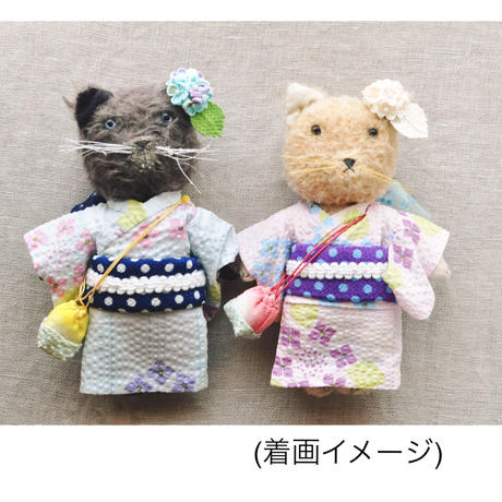 【for Doll】浴衣キット 〜紫陽花・ピンク〜